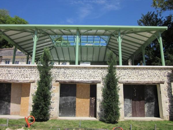 Emejing pergola en fer forge pour terrasse gallery for Avancee de toit pour terrasse